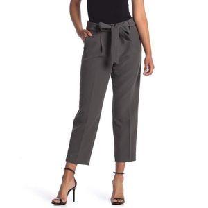 NWT Halogen Tie Waist Ankle Pants in Grey Beluga